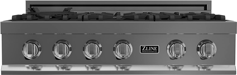 Amazon.com: zline 36 en. rangetop con 6 quemadores de gas ...