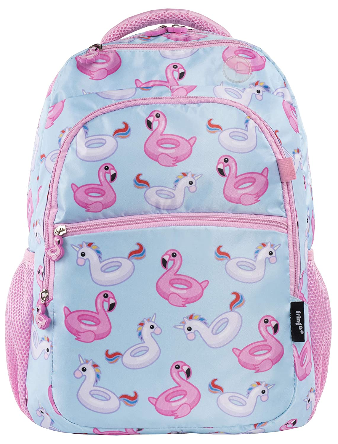 FRINGOO Boys Girls School Backpack Multi-Compartment Waterproof Junior Travel Luggage Rucksack Unicorn Bag (Chubby Unicorn)