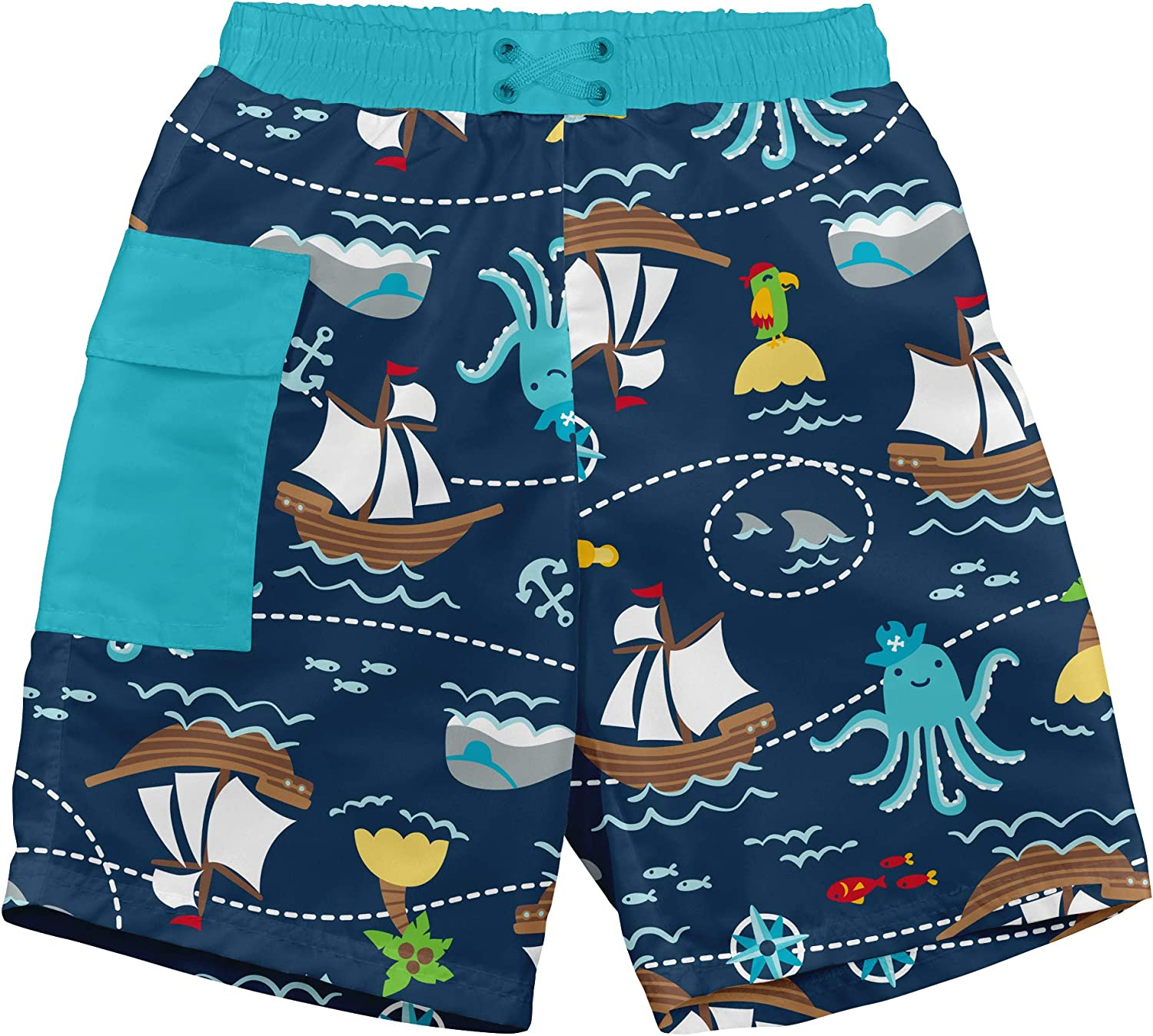i play. by green sprouts Boys' Trunks with Built-in Reusable Swim Diaper