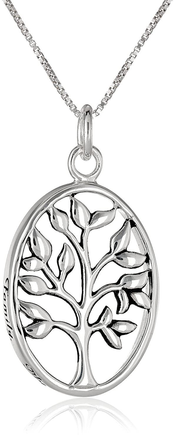 pendant disc inches jewelry sterling ayl silver family forever bling necklace tree