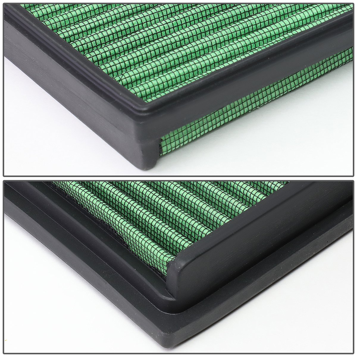 Amazon.com: For VW Suran/Golf/Candy/Polo 1.4L 1.6L Washable Panel Air Filter (Green): Automotive