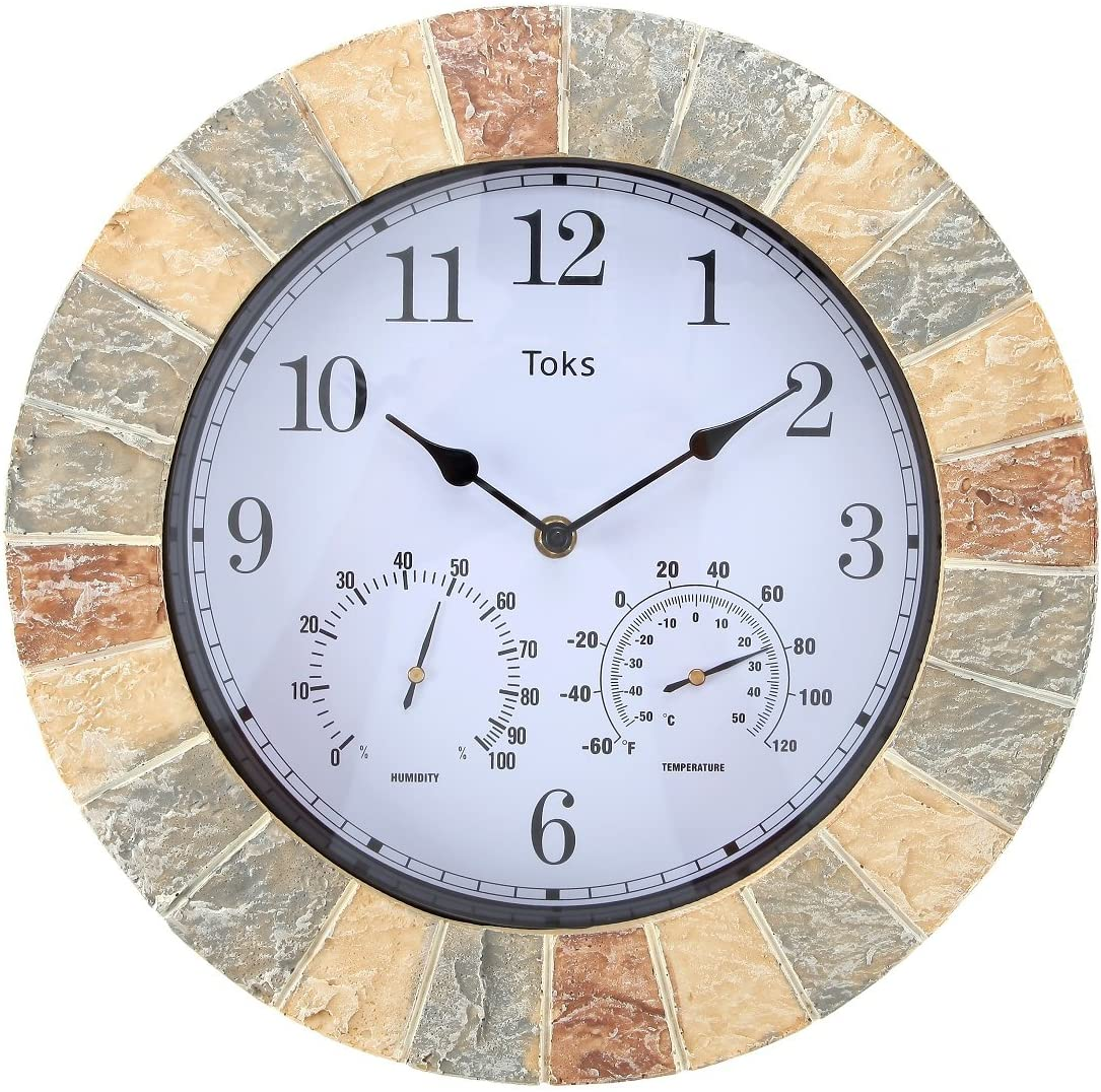 A picture of Lily's Home Hanging Wall Clock to better look into Best outdoor clocks 2020