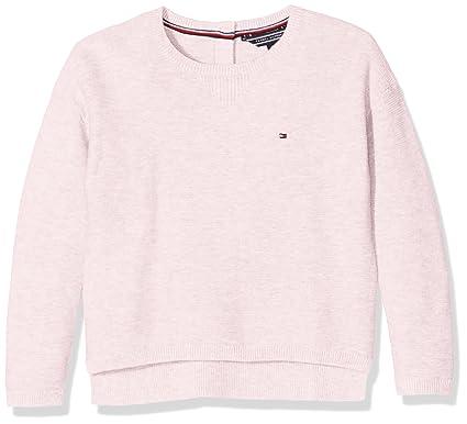 Tommy Hilfiger Tommy Hilfiger Mädchen Sweatshirt Ame Basic Sweater L S Rosa  (Soft Pink 694), 128(Herstellergröße 8) Sweatshirts  Amazon.de  Bekleidung 6a7bb4049d
