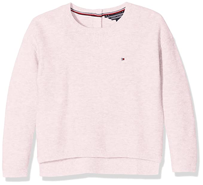 bc8679ab Tommy Hilfiger Ame Basic Sweater L/S Girl's Sweater,Pink (soft pink  694),128(Manufacturer Size=8): Amazon.co.uk: Clothing