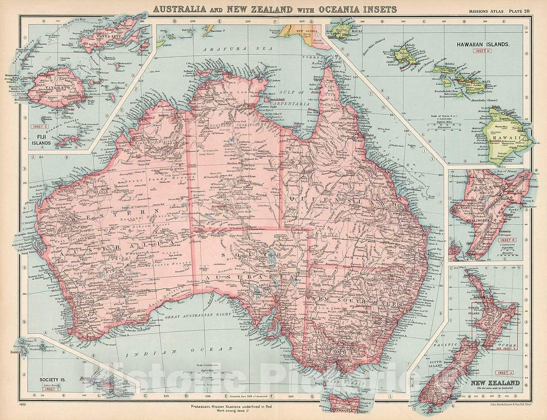 Amazon.com: Historic Map | World Atlas Map, Plate 20 ...