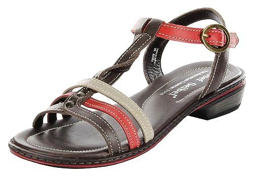 310e4e5790e2 Josef Seibel Sandaletten braunrot Lederdeck Riemchen Leder Damen Schuhe  Lilly 03, Größe 36,