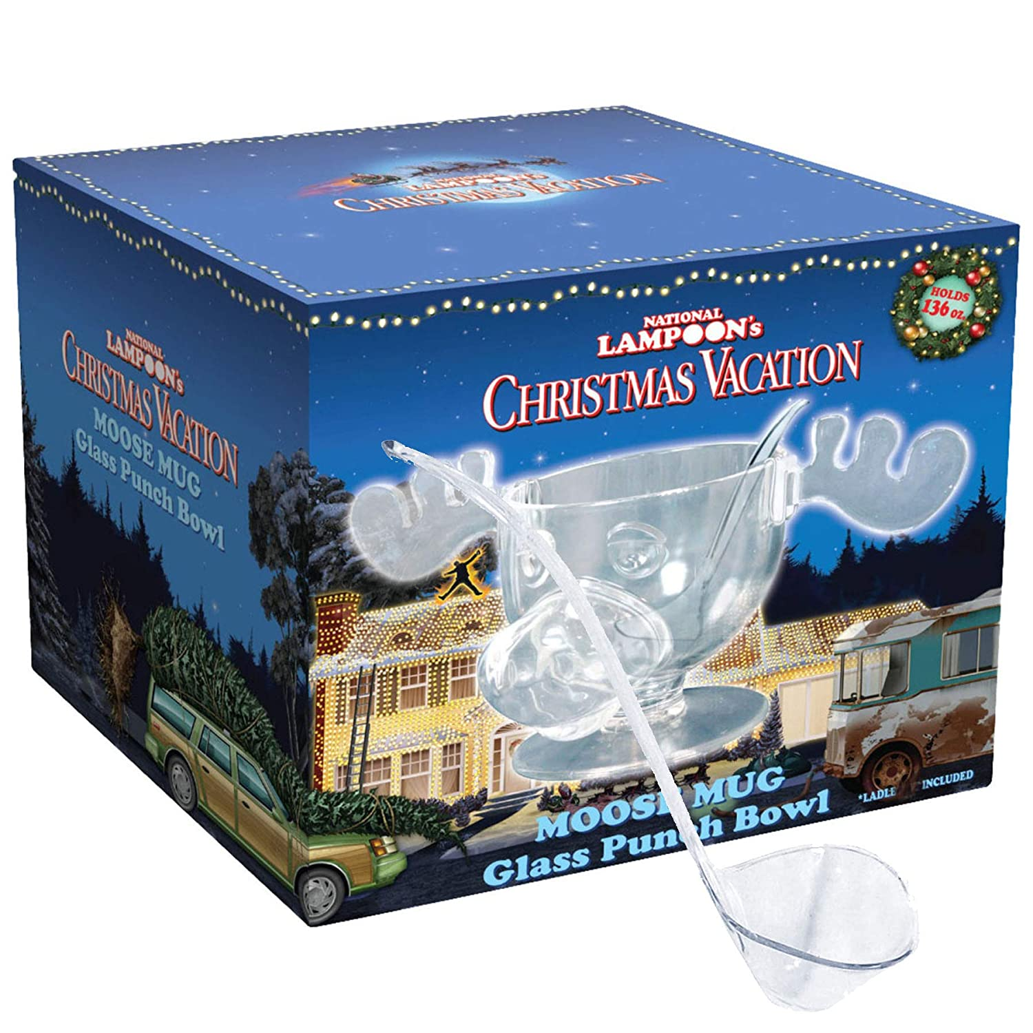 Christmas Vacation moose mug, 3.8litres, glassware, punch bowl with ladle, Griswold family 3.8litres ctc