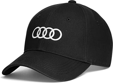 Audi collection 3131701000 Gorra con Anillos de Audi, Negro ...