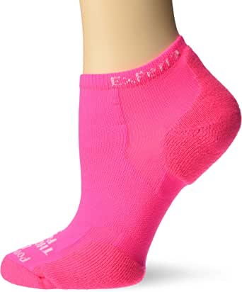 Thorlos Experia XCCU Thin Cushion Running Low Cut Socks, Electric Pink, Extra Small