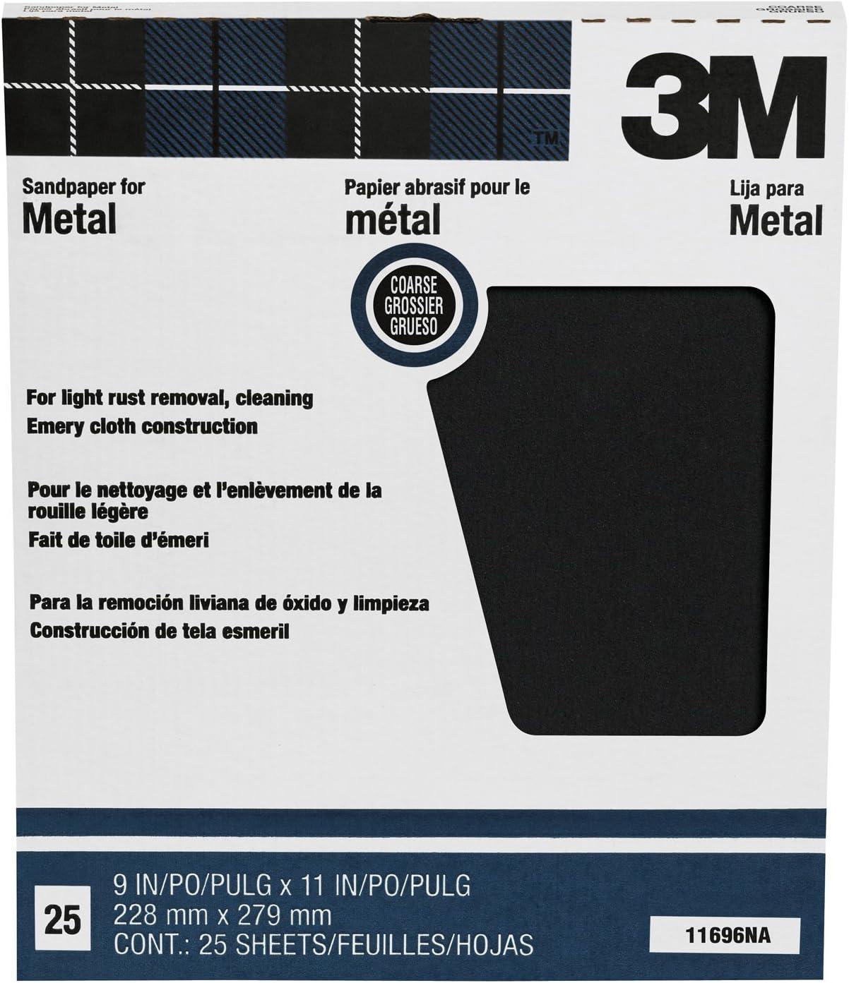 Fine // Medium // Coarse 230mm x 280mm 10 Pack Emery Sanding Cloth Sheets