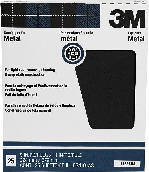 Coarse 3M Pro-Pak Emery Cloth 9-Inch by 11-Inch