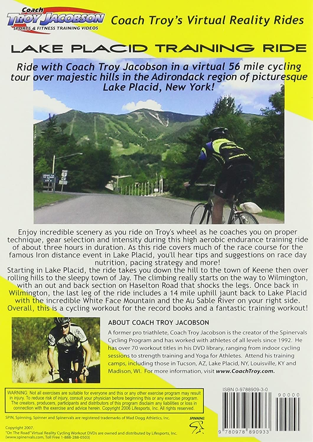 Spinervals Virtual Reality 2.0 Lake Placid Training Ride DVD ...