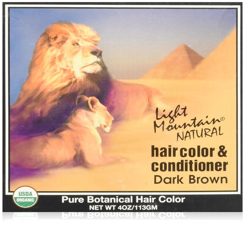 Light Mountain Dark Brown Henna 120 ml UNFI - Select Nutrition 187175