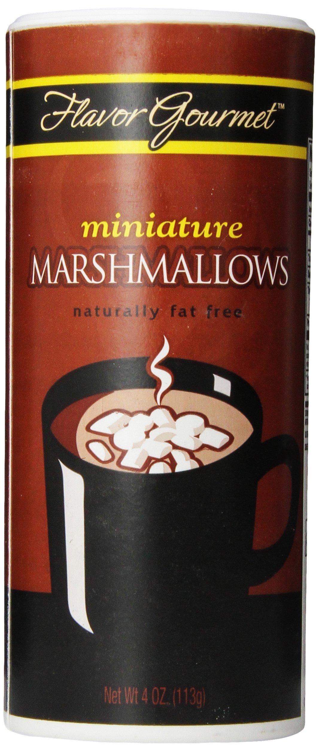 Flavor Gourmet Mini Marshmellows, 4 Ounce (Pack of 24)