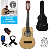 Acoustic Guitar Package 1/4 Sized (31' inch) Age 3 to 6 Classical Nylon String Childs Guitar Pack Natural