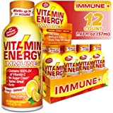 (12 Pack) Vitamin Energy Shots – Energy Lasts up to 7+ Hours*, Supports Immune Health*, Great Tasting Tango Orange, Keto…