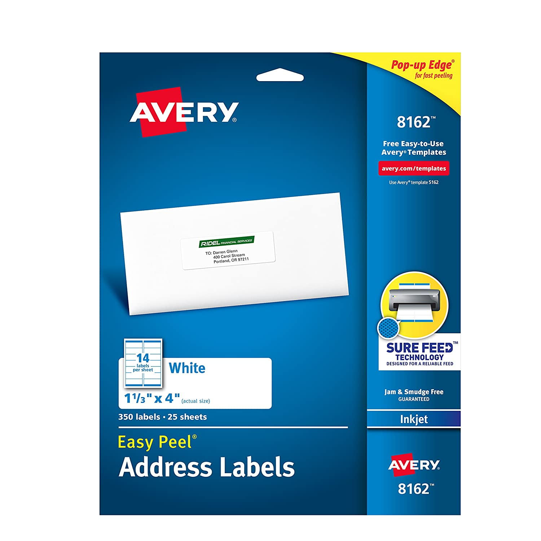 Amazon Avery Mailing Address Labels Inkjet Printers 350