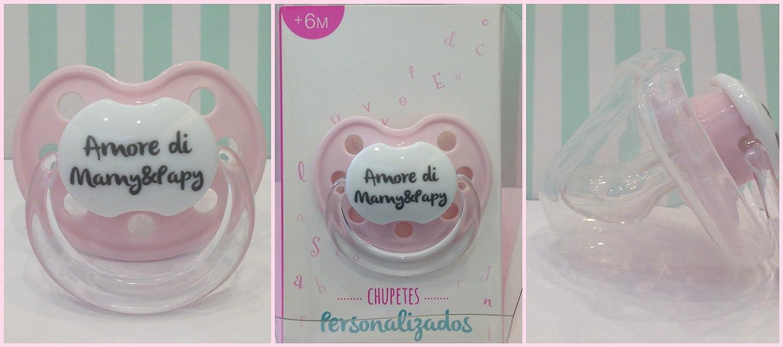 Chupete Chupete ROSA PINK personalizado con frase Amor de Mamy ...