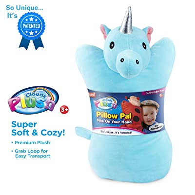 Cloudz Plush On Hand Kids Travel Pillow Pal - Unicorn: Home & Kitchen