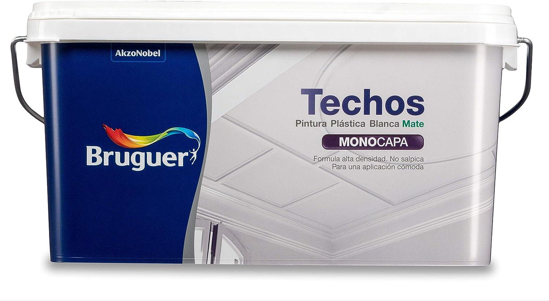 Bruguer - Techos pintura plástica mate - Color blanco luminoso -, 2.5 litros