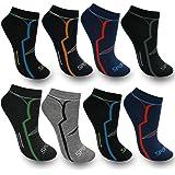 BestSale247, 12paia di calzini fantasmini da uomo, per sport e tempo libero, in cotone, misura 39-42, 43-46