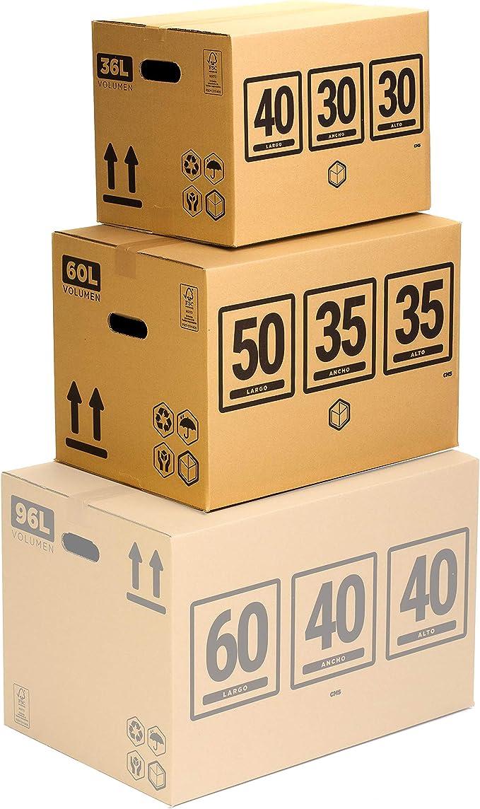 TeleCajas® | Pack Mudanza (Cajas de cartón, plástico Burbujas, precinto, etc) con el Embalaje Necesario para una mudanza de casa (Pack MUDANZA Single): Amazon.es: Hogar