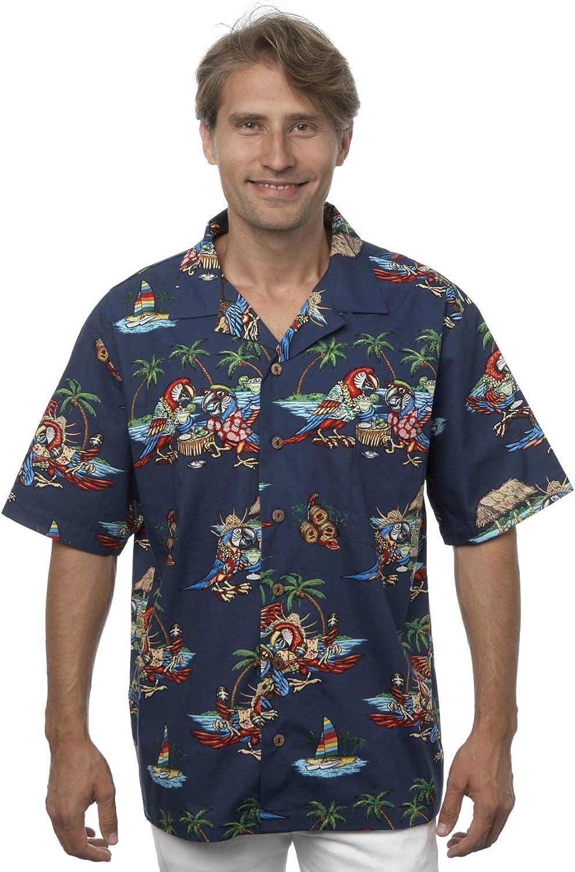 Benny's Mens Parrots Factory Max 47% OFF outlet and Parrothead Shirt Hawaiian Margaritas