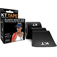 """KT Tape Original Cotton Elastic Kinesiology Therapeutic Athletic Tape, 20 Pack, 10"""" Cut Strips"""