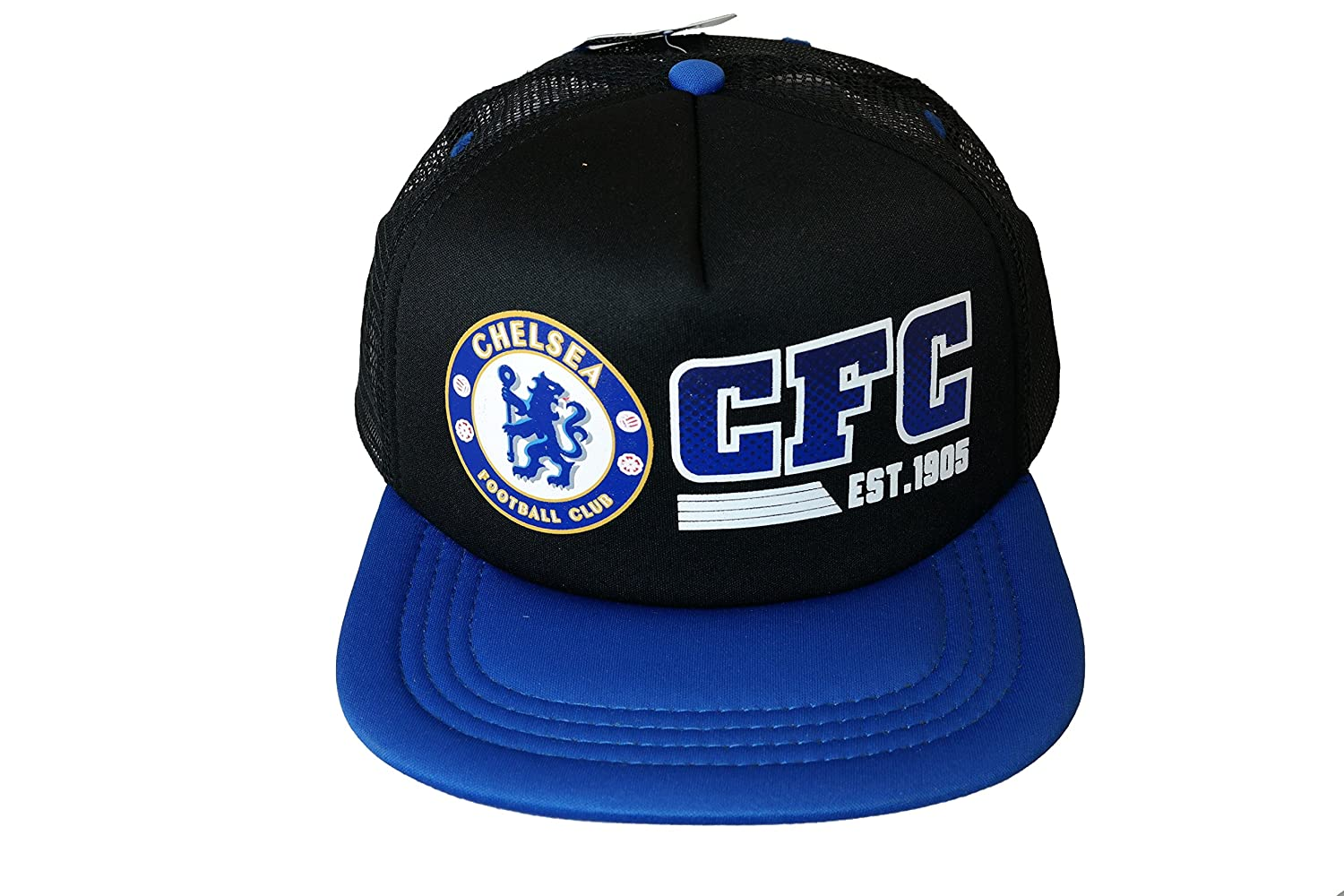 d52da1bf741 Amazon.com   FC Chelsea Authentic Official Licensed Soccer Trucker Cap One  Size -003   Sports   Outdoors