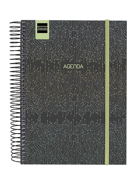 Finocam Secundaria Tech - Agenda 2019-2020 1 Día Página, 4º (155x212mm), Multicolor