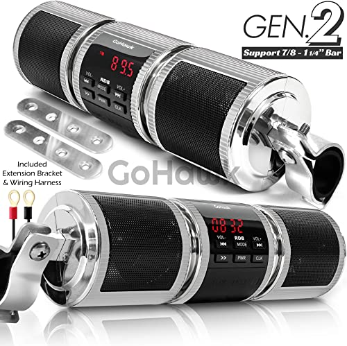 GoHawk RD8 Waterproof Bluetooth Motorcycle Stereo Speakers Soundbar