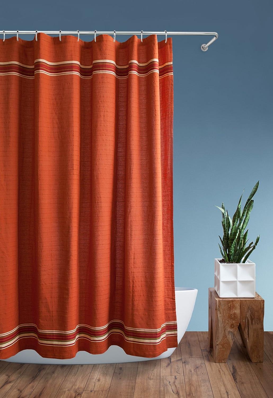 """Homewear 7995-SHWR Rio Grande Shower Curtain, 70"""" X 72"""",Burnt Orange"""