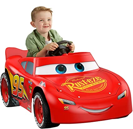 fisher price power wheels lightning mcqueen race car electric
