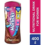 Women's Horlicks Health and Nutrition Drink, 400 gm, Chocolate Flavor Jar (No Added Sugar)