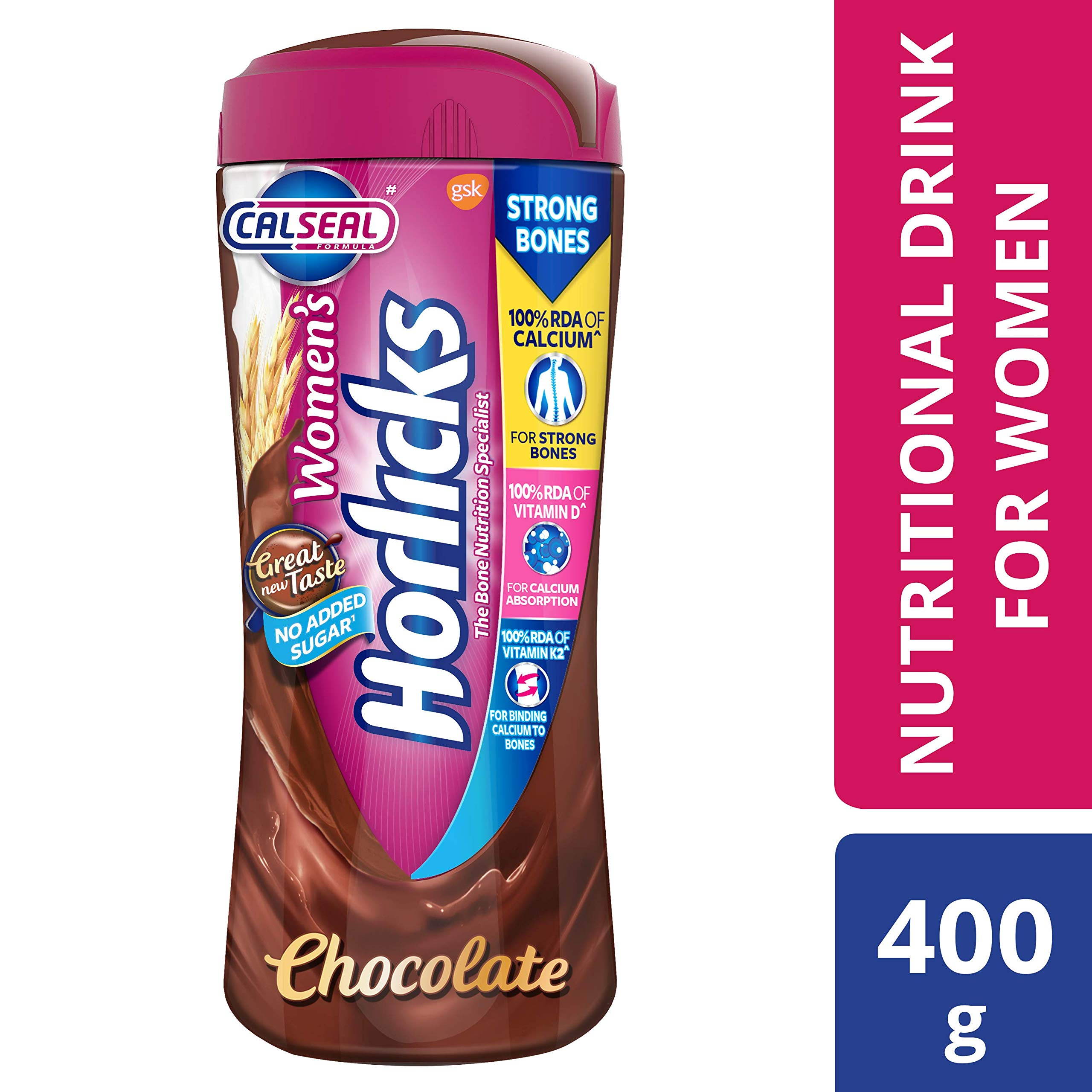 Horlicks Women's Health and Nutrition drink - 400g (Chocolate flavor) product image