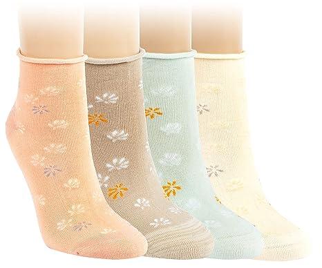 schöner Stil harmonische Farben attraktive Designs Vitasox Damen Socken Kurzsocken Rollrand Bambus 6 Paar