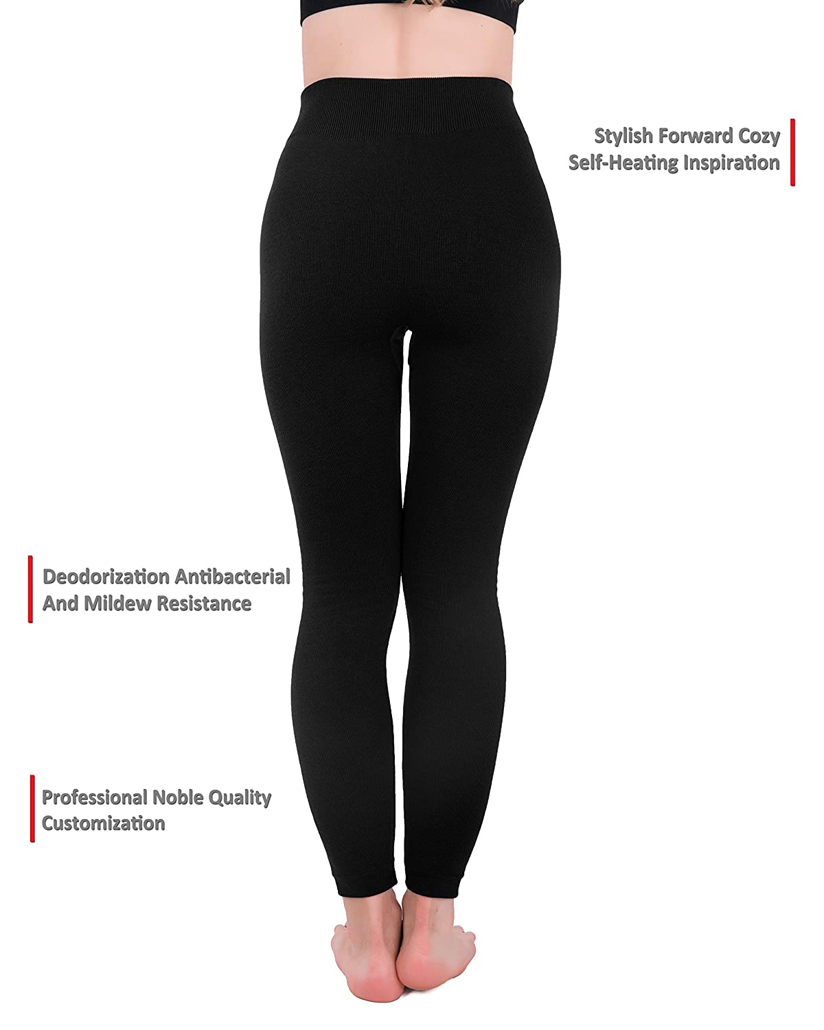 b1b59f1fad23b Homma 3 Pack Extra-Thick French Terry Thermal Leggings at Amazon Women's  Clothing store: