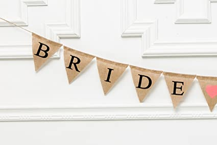 Bride To Be Hessian Bunting Fabric Banner Burlap Flags Garland Bridal Shower Banner Vintage Bridal Shower Decorations Backdrops