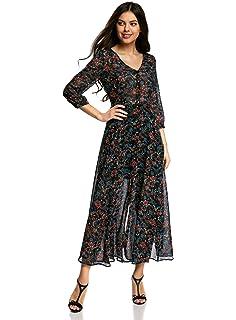 ae0483b0ece83 oodji Ultra Femme Robe Longue Boutonnée  Amazon.fr  Vêtements et ...