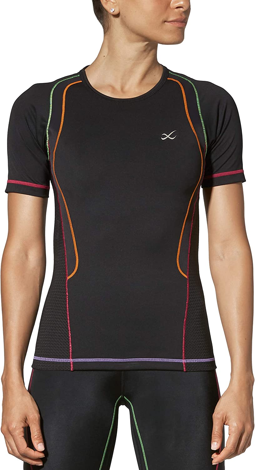CW-X Women's Short Sleeve Ventilator Web Top
