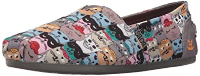 Skechers BOBS from Women's Plush-Scratch Party Flat, Cat Multi, ...