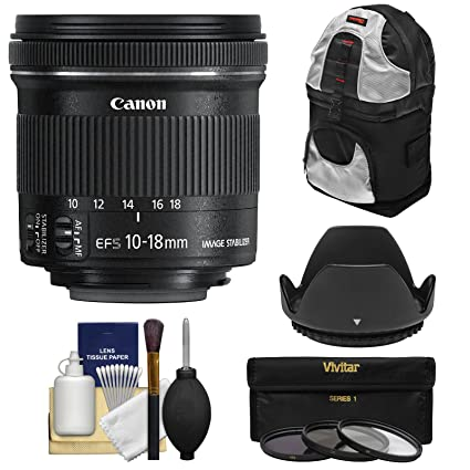 Amazoncom Canon Ef S 10 18mm F45 56 Is Stm Zoom Lens With