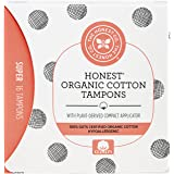 Honest Organic Cotton Tampons with Plant-Based Compact Applicator, Super, 16 Count
