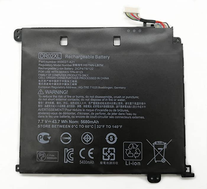 Tinkerpal DR02XL Replacement Laptop Battery for HP Chromebook 11 G5 Series 859027-1C1 859357-855 HSTNN-IB7M 859027-121 859027-421 7.7V 43.7Wh