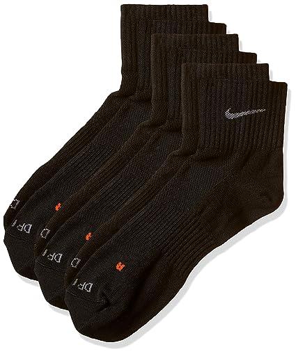Nike SX4847, Pack de 3 Calcetines Unisex para Adultos, Negro, 34-38