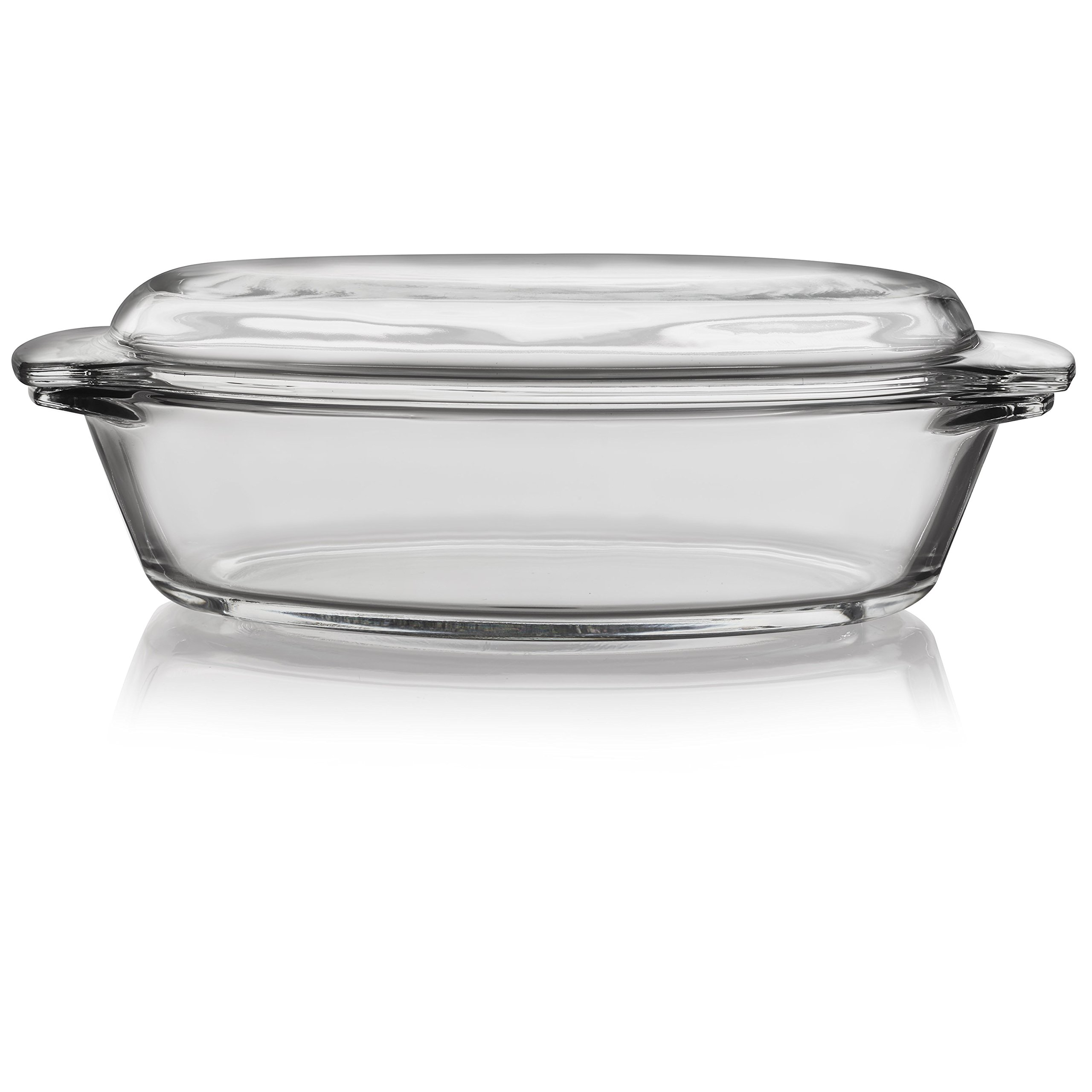 Libbey Baker's Basics Glass Oval Casserole with Cover