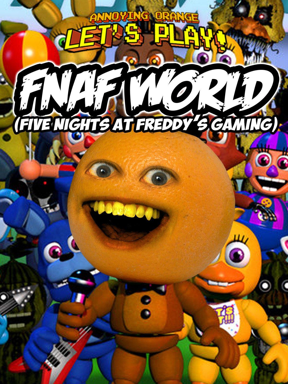 Amazon com: Watch Clip: Annoying Orange Let's Play - FNAF