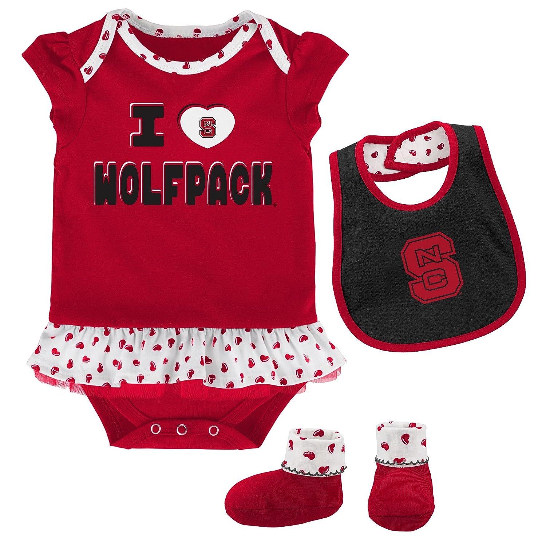 大人の上質  OuterStuff NCAA チームLoveボディスーツ 新生児&幼児用 よだれかけ Wolfpack & ブーティーセット B073ZWH6YQ 24 24 & Months 24 Months|North Carolina State Wolfpack, ハウスダイレクトさくら:23a65382 --- vanhavertotgracht.nl