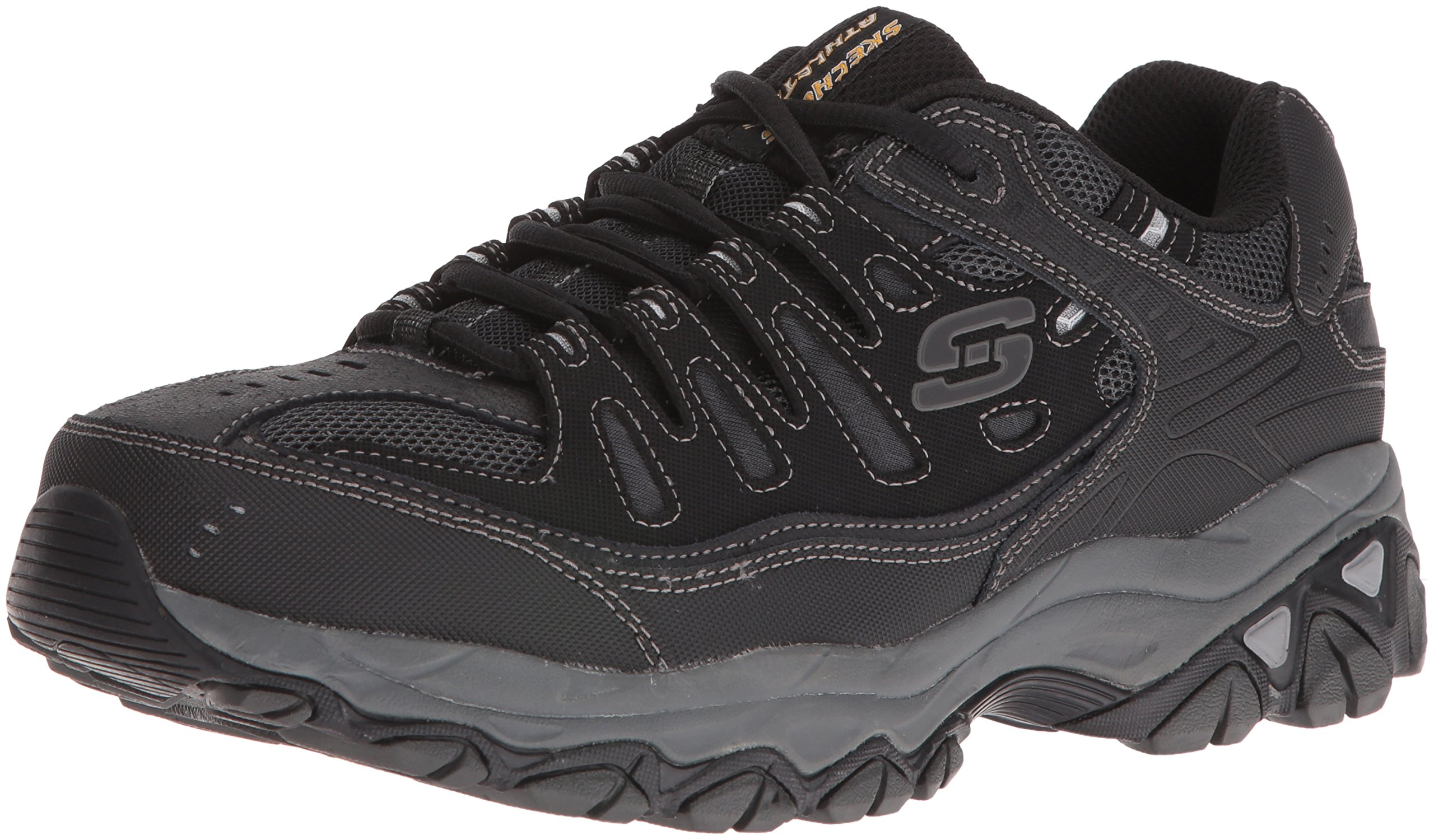 Skechers Men's AFTER BURN M.FIT Memory Foam Lace-Up Sneaker, Black, 10 4E US by Skechers