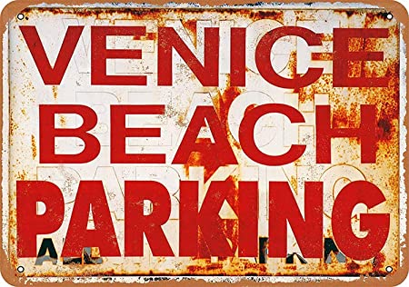 Shunry Venice Beach Parking Placa Cartel Vintage Estaño ...